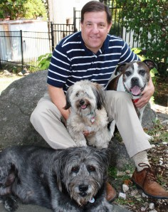 Jim with Marlee, Pippin and Bo